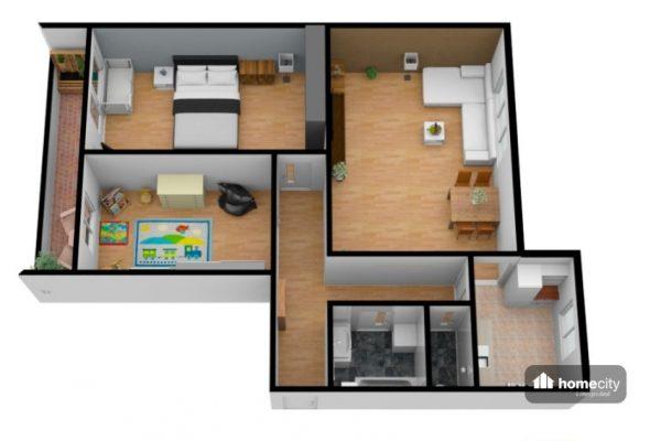 Vizualizace bytu Trnová
